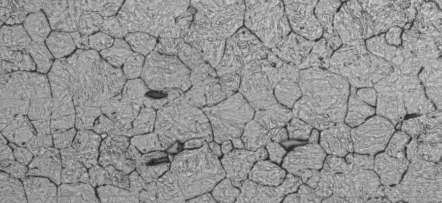 Problemstellung : Korngrößenbestimmung an induktiv gehärtetem Stahl